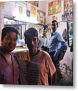 Delhi Barbershop Metal Print
