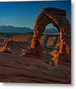 Delicate Arch At Sunrise Metal Print