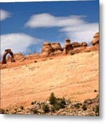 Delicate Arch Famous Landmark In Arches National Park Utah Metal Print