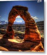 Delicate Arch Framing La Sal Mountains Metal Print