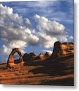 Delicate Arch In Arches National Park Metal Print