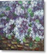 Delicate Perfumed Lilacs Metal Print