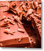 Delicious Bars And Chocolate Chips  Metal Print