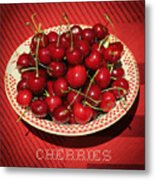 Delicious Cherries Metal Print