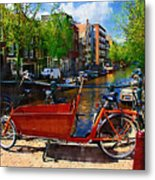 Delivery Bike Metal Print