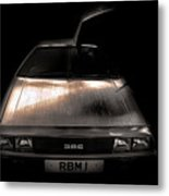 Delorean Metal Print