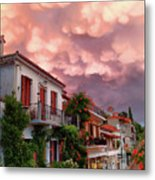 Delphi Greece Sunset Metal Print