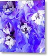Delphinium Flowers Metal Print