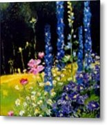 Delphiniums Metal Print