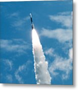 Delta Rocket From Cape Canaveral In Florida Metal Print