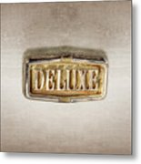 Deluxe Chrome Emblem Metal Print