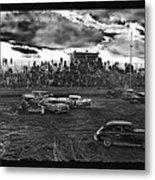 Demolition Derby Rain Storm Clouds #1 Tucson Arizona 1968 Metal Print