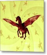 Demon Winged Horse Metal Print