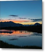 Denali Reflection Lake Metal Print
