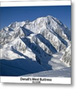 Denali West Buttress Metal Print