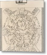 Dendera Zodiac From The Temple Of Hathor Metal Print