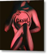 Denial - Self Portrait Metal Print