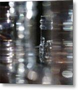 Denmark Abstract Of Glass Chess Set Metal Print