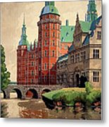 Denmark, Castle, Romance Of The Middle Ages Poster Metal Print