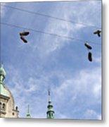 Denmark, Copenhagen, Amager Torv, Shoes Metal Print