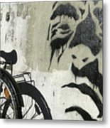 Denmark, Copenhagen Graffiti On Wall Metal Print