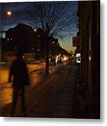 Denmark, Copenhagen, Man Walking Metal Print by Keenpress