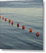 Denmark Red Safety Balls Floating Metal Print by Keenpress