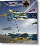 Denmark, Romo, Kites Flying At Beach Metal Print