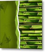 Dense Bamboo Stalk With Copyspace Metal Print by Sandra Cunningham