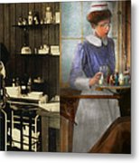 Dentist - An Incisive Decision - 1917 - Side By Side Metal Print
