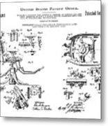 Dentists Chair Patent 1892 Metal Print