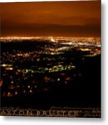 Denver Area At Night From Lookout Mountain Metal Print