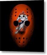 Denver Broncos War Mask 2 Metal Print