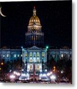 Denver Capital Nights Metal Print