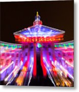 Denver City And County Building Lights Metal Print