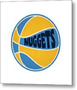 Denver Nuggets Retro Shirt Metal Print
