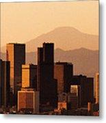 Denver Skyline 2003 Metal Print