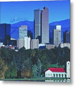 Denver Skyline Metal Print