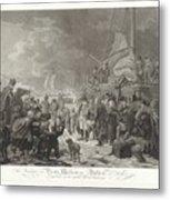 Departure Of Prince William V, 1795, Joannes Bemme, After Dirk Langendijk, After Christoffel Meijer, Metal Print