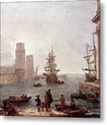 Departure Of Ulysses From The Land Of The Feaci  Metal Print
