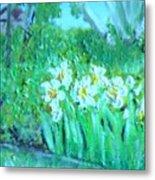 Dependable Daffodils Metal Print