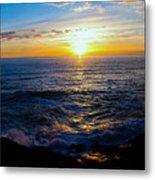 Depoe Bay Sunset Metal Print