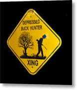 Depressed Buck Hunter Metal Print
