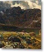 Der Hintere Murgsee. St. Galler Alpen. 1878 Metal Print