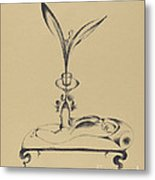 Der M?nn Mit Dem Holzbein Tr?umt (the Man With The Wooden Leg Dreams) Metal Print