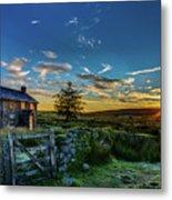 Derelict Cottage Nun's Cross, Dartmoor, Uk. Metal Print