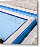 Derelict Swimming Pool Metal Print