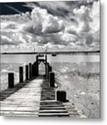 Derelict Wharf Metal Print by Avalon Fine Art Photography
