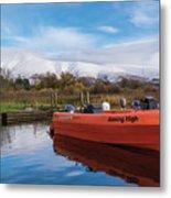 Derwent Water Harbor Metal Print