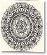 Des Tapestry Medallion Metal Print